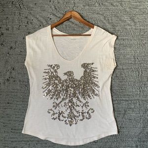 EXPRESS tee short with sequined size M/M